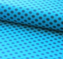 Úplet kruhy s puntíky okolo na modré (tmavějši2)