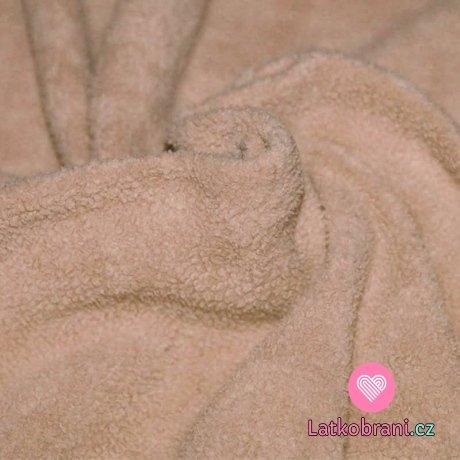 Bavlněný fleece béžový (sherpa)