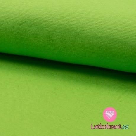 Náplet hladký limetkově zelený