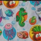 Úplet kreslené žralok, chobotnice, mořský koník -ZBYTEK