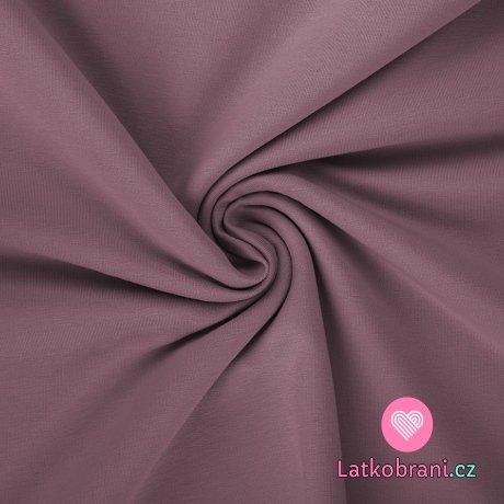 Teplákovina jednobarevná temně starorůžová do fialové