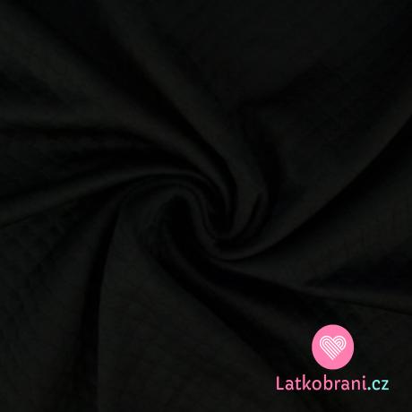 Prošívaná teplákovina, s diamantovým leskem černá