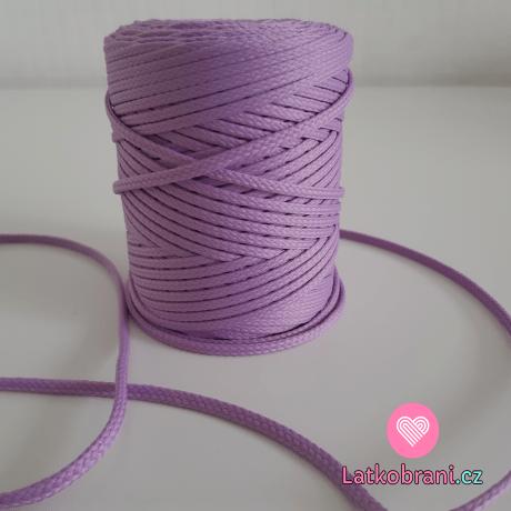 Šňůra oděvní kulatá  PES 4 mm fialová lila