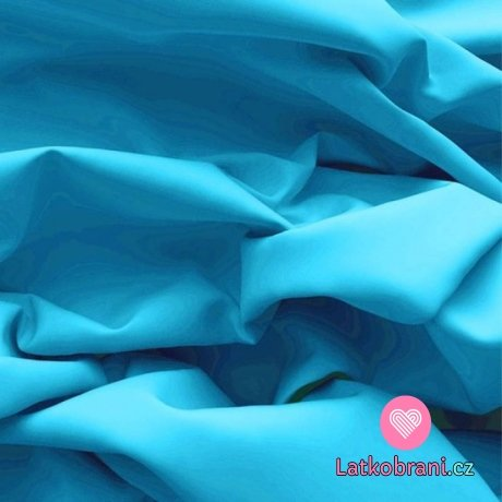 Bavlněný popelín jednobarevný tyrkysový