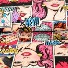 Teplákovina komiks žena růžová