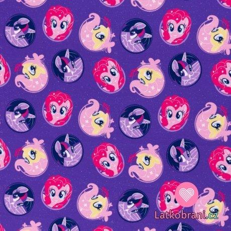 Úplet potisk My little pony na fialové