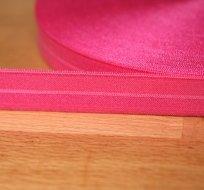 Šikmý proužek / lemovací pruženka růžová sytá