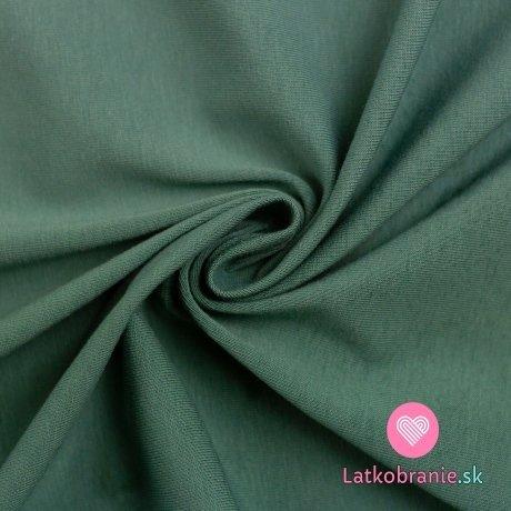Jednobarevný úplet smaragdový zaprášený