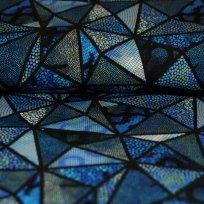 Úplet digitisk mozaikové trojúhelníčky modré