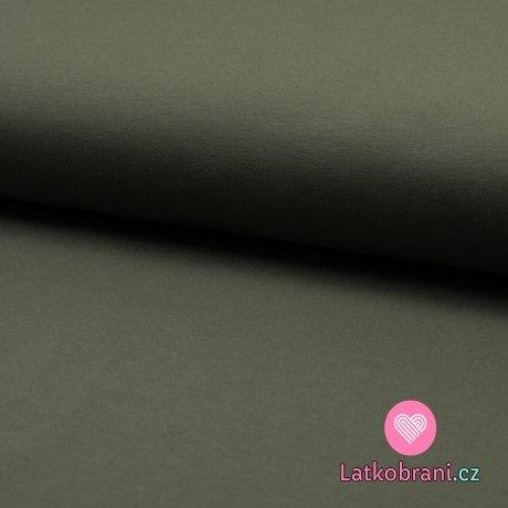 Jednobarevná teplákovina khaki