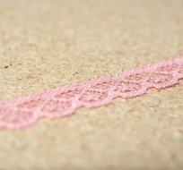 Krajka elastická růžová 12mm