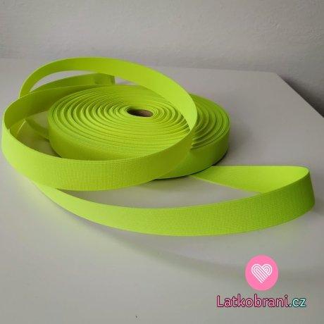 Pruženka barevná neonově žlutá 25 mm