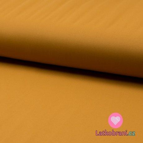 Softshell jednobarevný celoroční strečový okrový