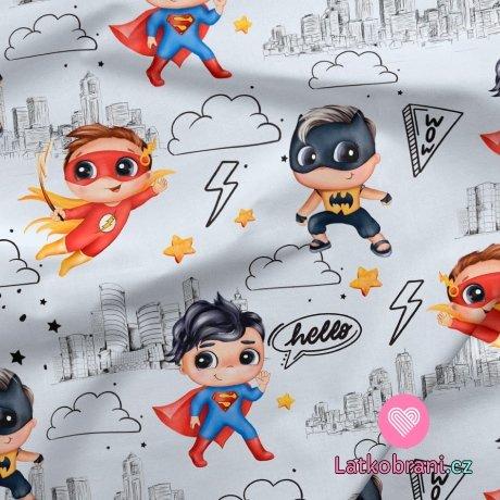 Teplákovina potisk superhrdinové zachraňují svět