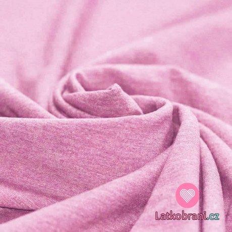 Jednobarevný úplet růžové melé