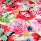 Úplet potisk motýlci a kolibříci na růžích