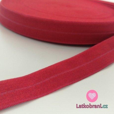 Šikmý proužek / lemovací pruženka červená 19mm