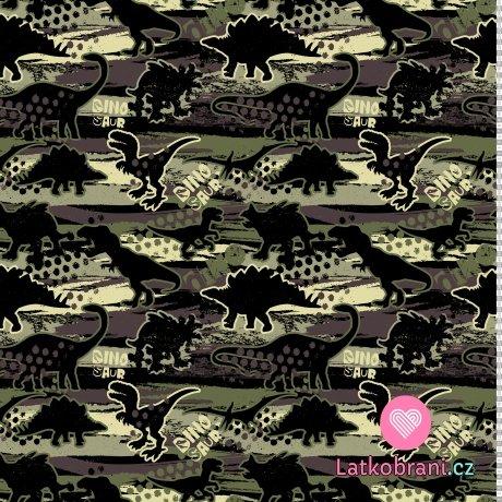 """Úplet potisk dinosauři na """"kamufláži"""""""