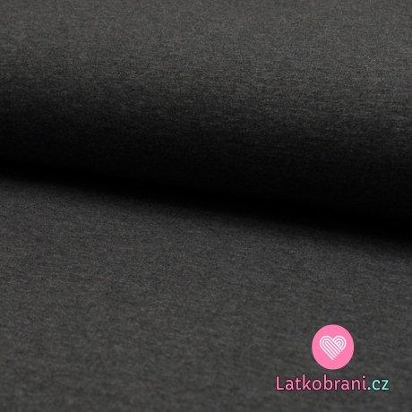 Jednobarevný úplet tmavě šedá melange