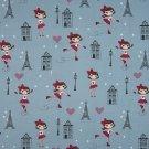 Úplet holka na bruslích, Eiffelovka na šedo-modré