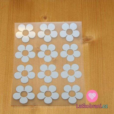 Reflexní nažehlovačka kytičky (12ks)
