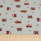 Úplet potisk hasičská autíčka na šedé