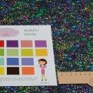 Bavlněné americké plátno potisk barevné bublinky na černé