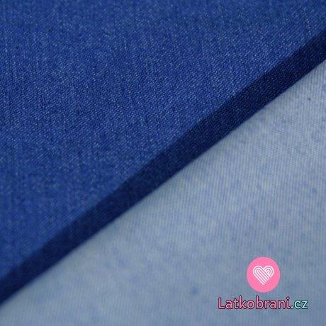 Denim stretch jeansovina modrá jasnější