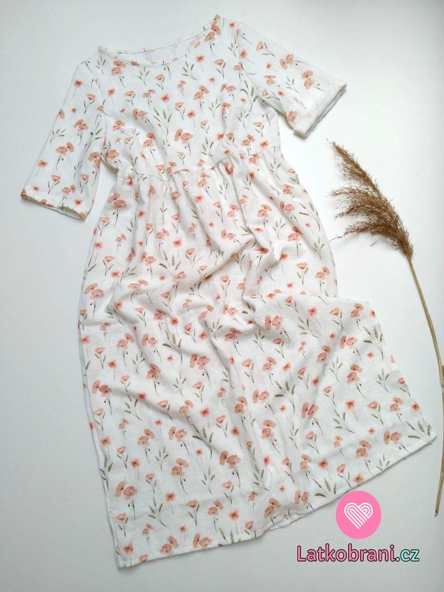 Dámské šaty z mušelínu