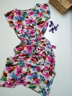 Šaty střih Mischel - viskóza potisk květovaný vzor