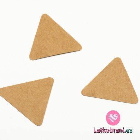 Štítek na oblečení trojúhelníky 30x30 mm
