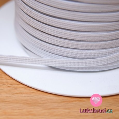 Pruženka plochá bílá 6 mm