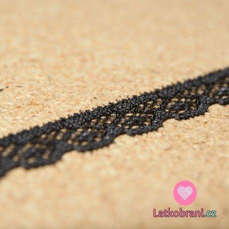 Krajka elastická šedá tmavá 12mm