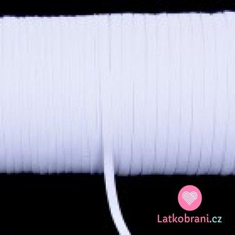 Pruženka prádlová plochá bílá 8 mm