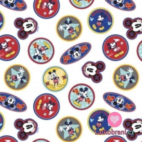 Bavlněný popelín Disney Mickey Mouse