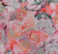 Úplet potisk kouzelné květiny na starozelené
