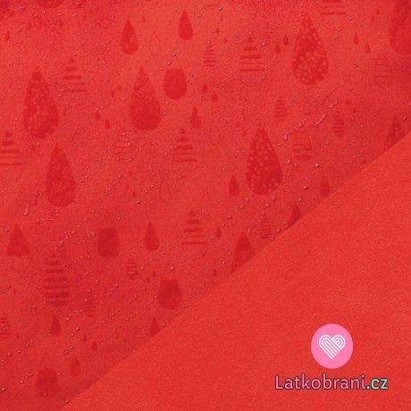 Softshell zimní strečový červený magické kapky deště