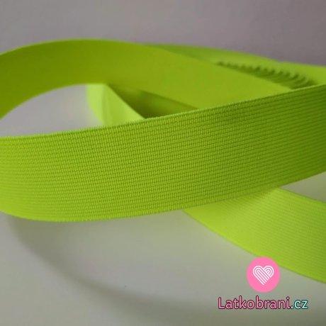 Pruženka barevná neonově žlutá 30 mm