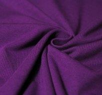 Jednobarevný úplet tmavě fialová 220 g, šíře 180 cm