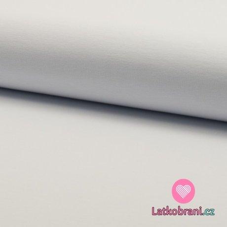 Jednobarevná teplákovina bílá 230g