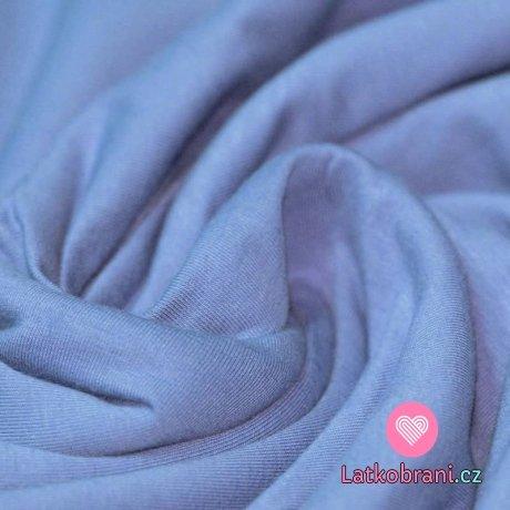 Jednobarevný úplet jeansově modrý 240 g