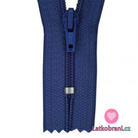 Zip spirálový nedělitelný námořnicky modrý 18 cm