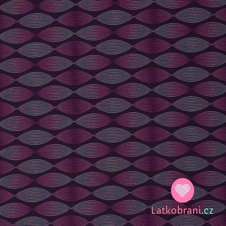 Teplákovina potisk poutavé řetězce ve fialových odstínech