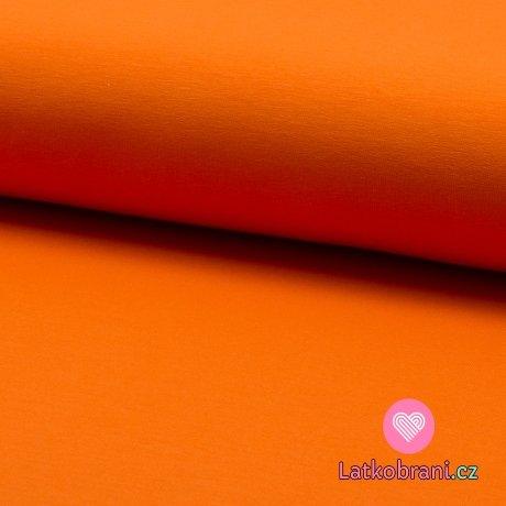 Jednobarevná teplákovina oranžová