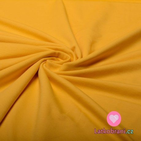 Teplákovina jednobarevná žlutá