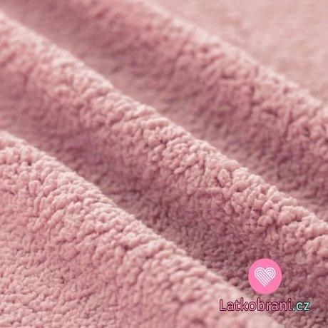 Beránek Teddy pudrově růžový