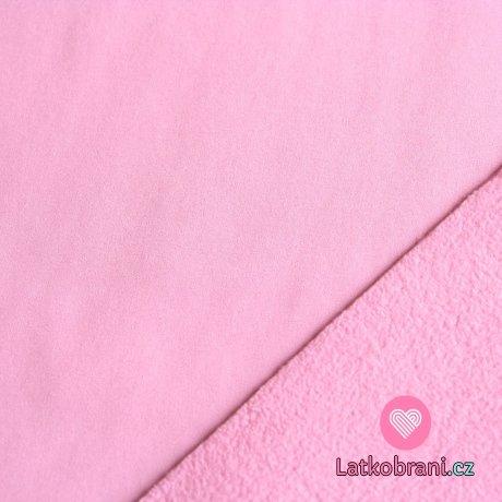 Softshell světle růžová baby s fleecem 300g