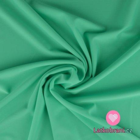 Plavkovina (lycra) jednobarevná mintová