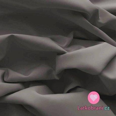 Bavlněný popelín temně šedý
