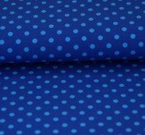 Úplet puntíky tyrkys na královsky modré (střední)